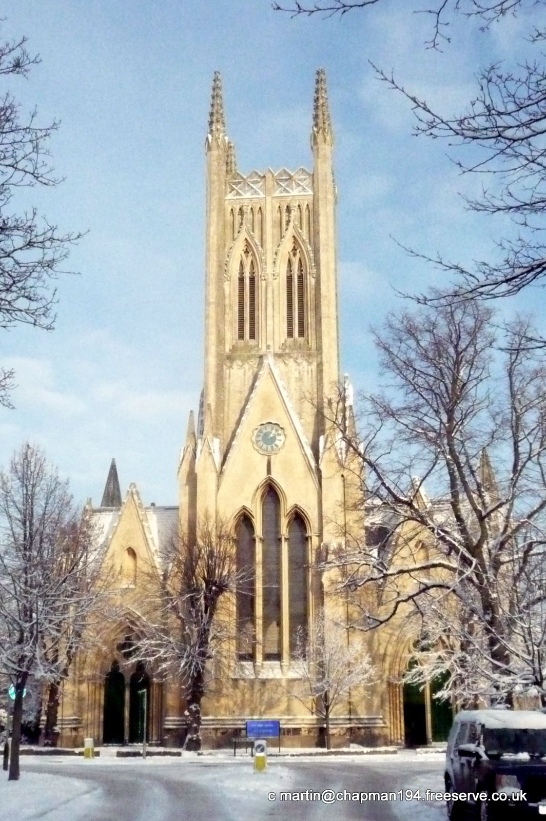2010 Dec Church in snow portrait