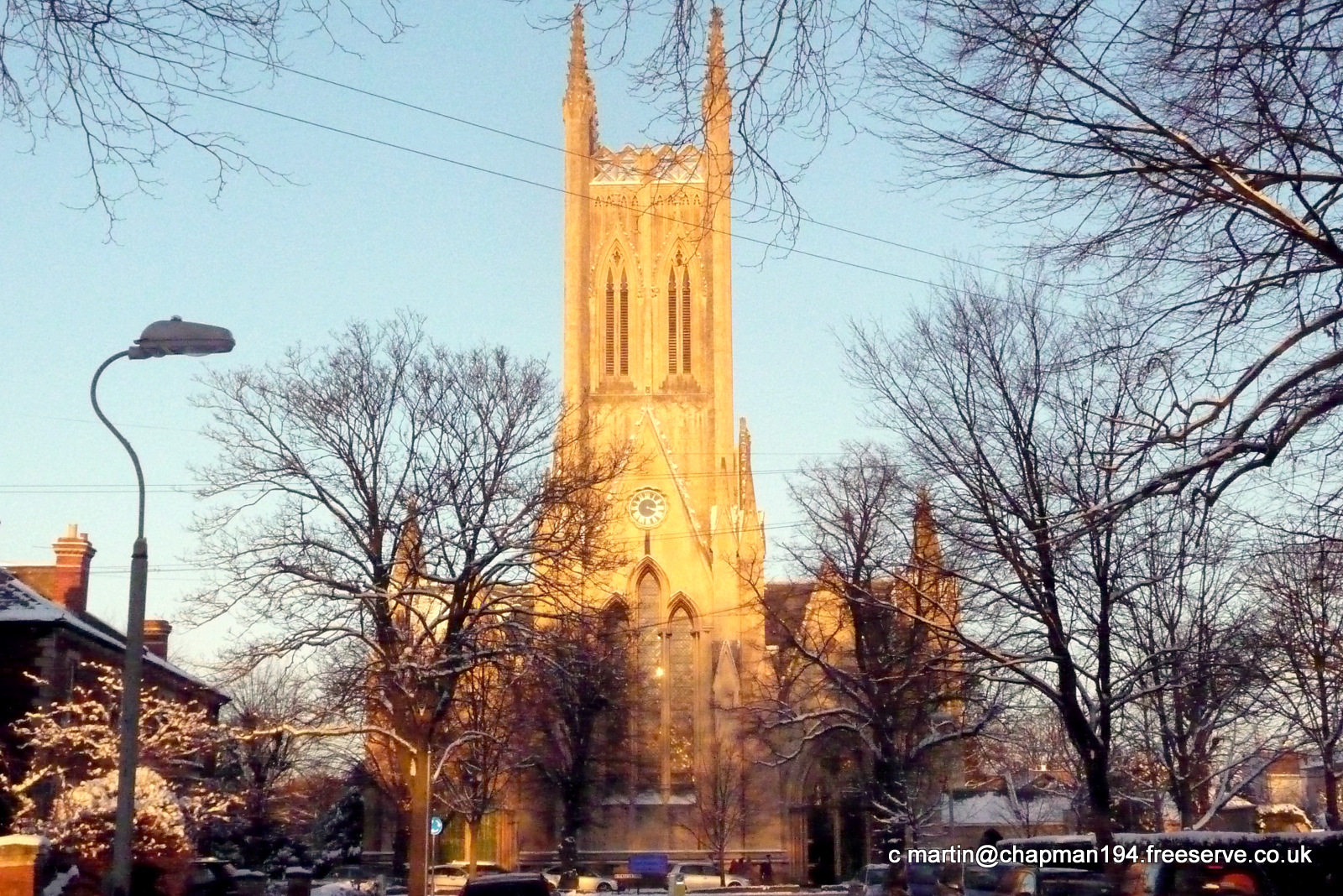 2010 Church in Winter sun by MHC