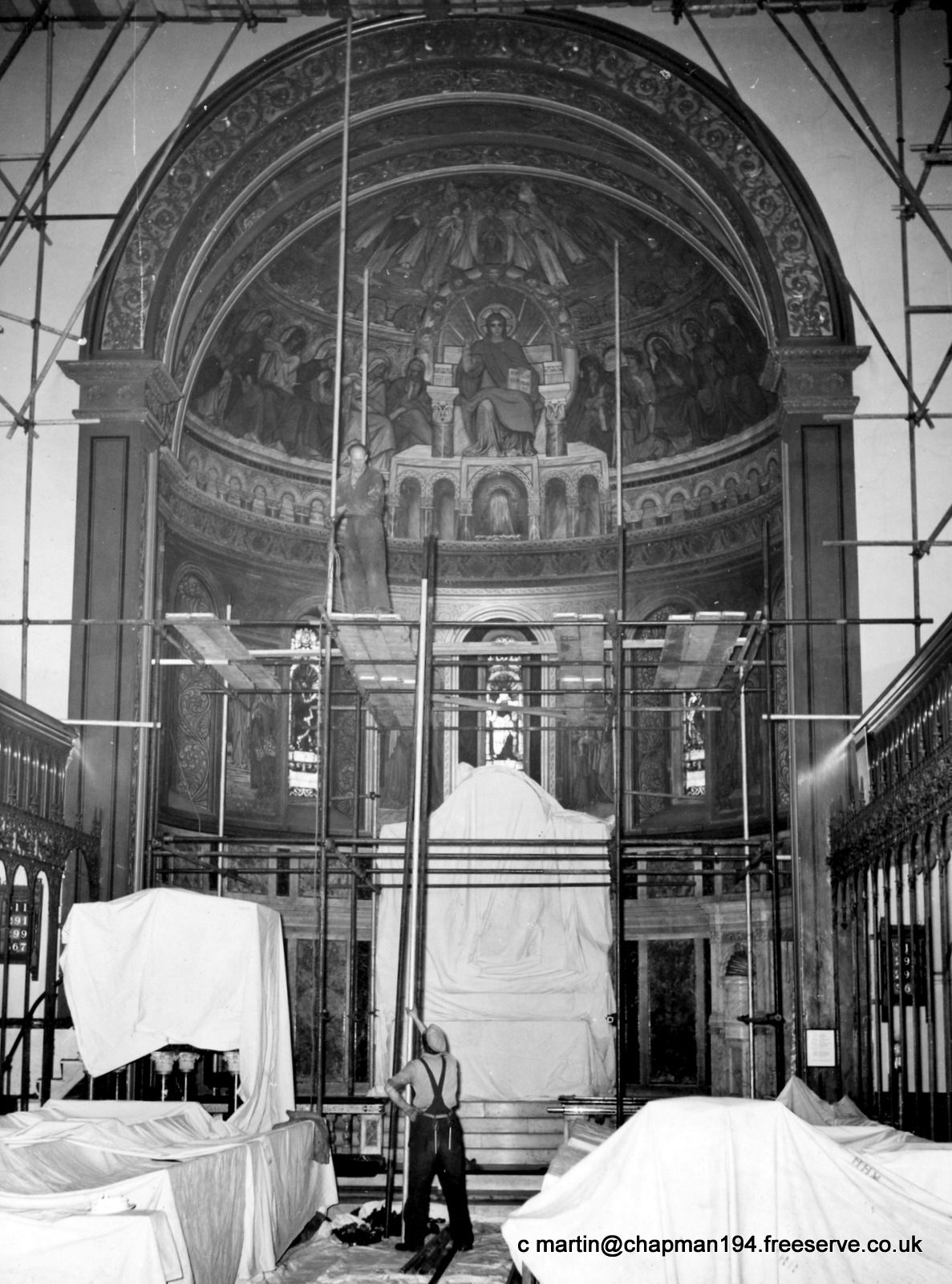 560301-1956 Apse decoration