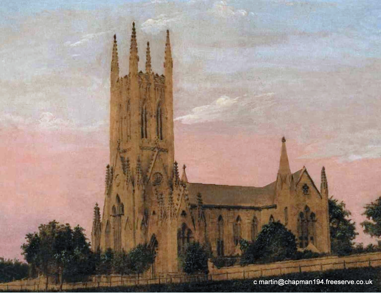 1860c Church Painting from DH