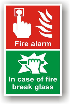 Fire Alarm, In Case Of Fire Break Glass (F014)