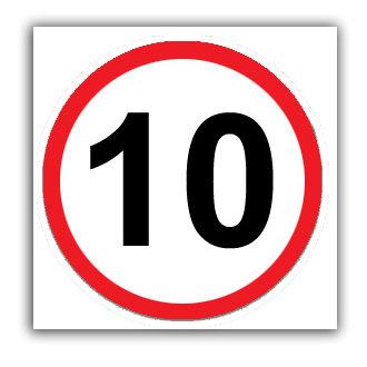Speed Limit 10mph (U034)