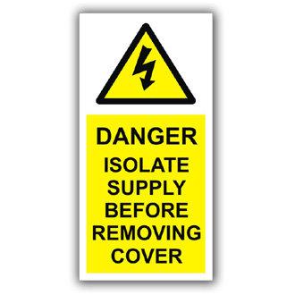 Danger Isolate Supply Before Removing Cover (D017)