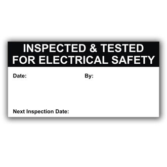 Inspected & Tested for Safety (D029)