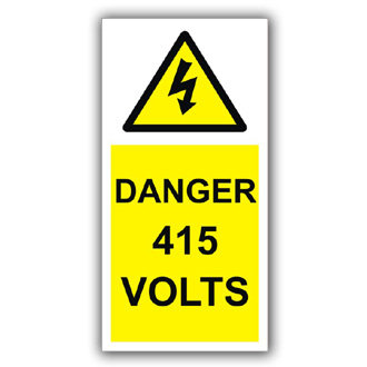 Danger 415 Volts (D004)