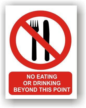 No Eating or Drinking (R015)