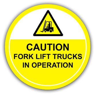 Caution Fork Lift Trucks In Operation (L023)