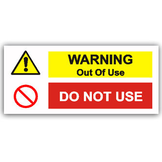 Warning Out of Use (T012)