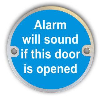 Alarm Will Sound If Door Opened (G003)