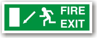 Fire Exit Down Left to EC (H023)