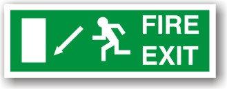 Fire Exit Down Left to EC (H023)