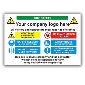 Site Safety Personalised Logo (T004)