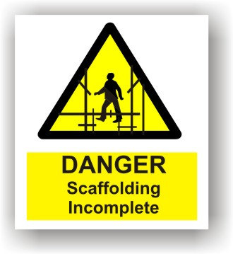 Danger Scaffolding Incomplete (W007)