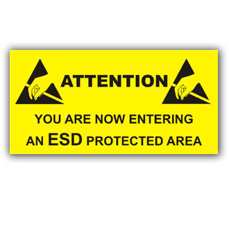 Attention You are entering an ESD Protected Area (E024)