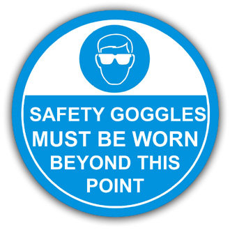 Safety Goggles Must Be Worn (L014)