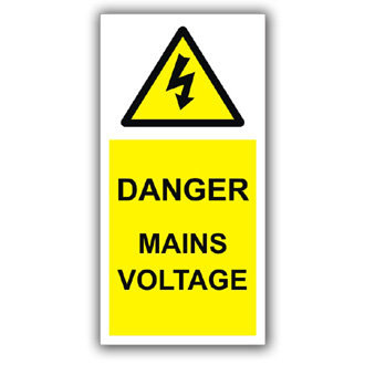 Danger Mains Voltage (D019)