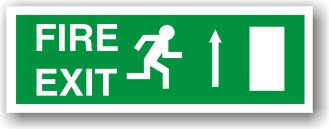 Fire Exit Arrow Up to EC (H019)