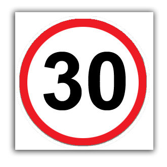 Speed Limit 30mph (U036)