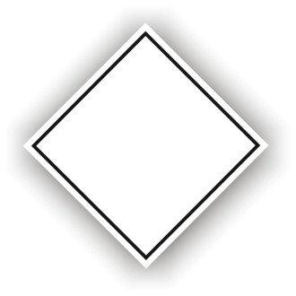 Blank White Diamond (M043)