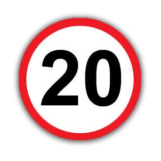Speed Limit 20mph (U035)