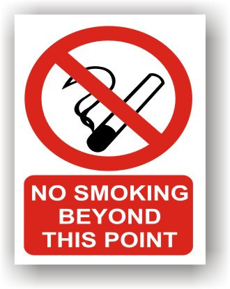 No Smoking Beyond This Point (R002)