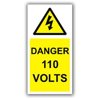 Danger 110 Volts (D001)