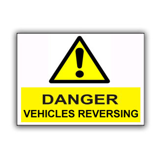 Danger Vehicles Reversing (T032)
