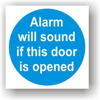 Alarm Will Sound If Door is Open (G016)
