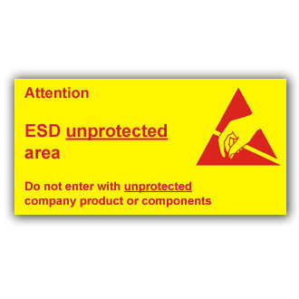 Attention ESD Unprotected Area (E027)