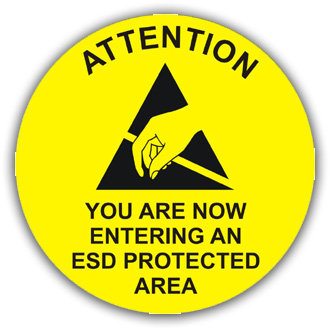 Attention: Entering ESD Protected Area (L024)
