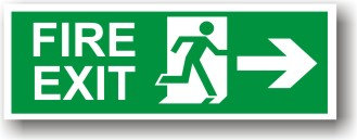 Fire Exit Arrow Right (H002)