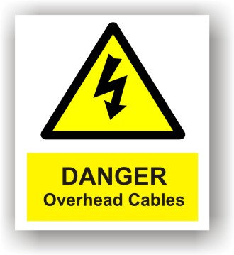 Danger Overhead Cables (W014)