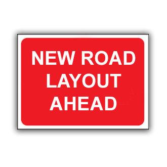 New Road Layout Ahead (U028)
