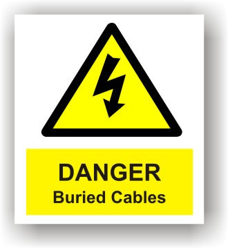Danger Buried Cables (W016)
