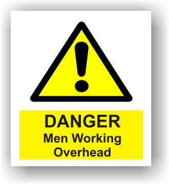 Danger Men Working Overhead (W002)
