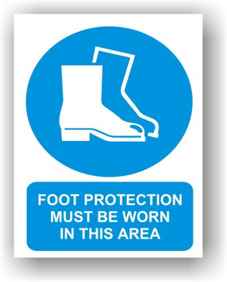 Foot Protection Worn In Area (O009)