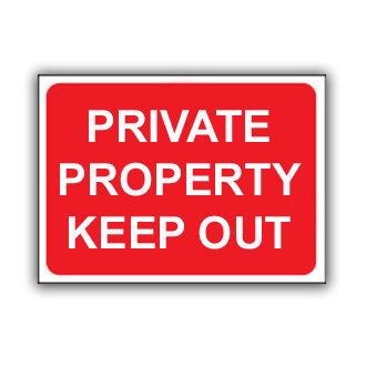 Private Property Keep Out (T037)
