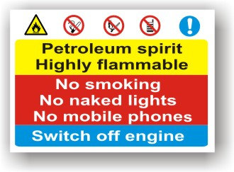 Petroleum Spirit Highly Flammable (I008)