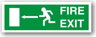 Fire Exit Left EC (H017)