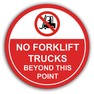 No Forklift Trucks Beyond This Point (L006)