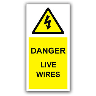 Danger Live Wires (D021)
