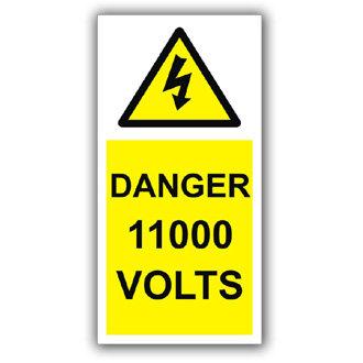 Danger 11000 Volts (D008)