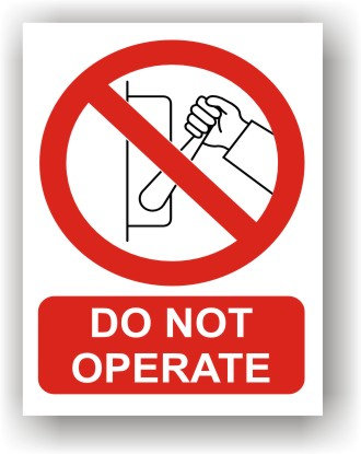 Do Not Operate (R019)