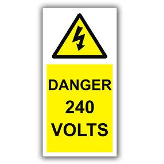 Danger 240 Volts (D003)