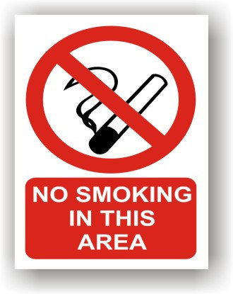 No Smoking in This Area (R003)