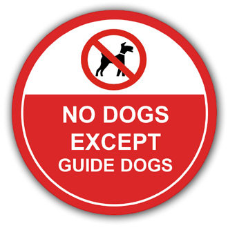 No Dogs Except Guide Dogs (L004)