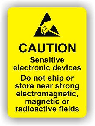 Caution Sensitive Electronic Devices (P023)