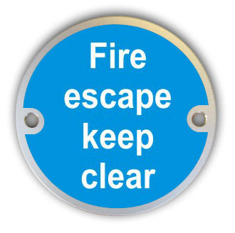 Fire Escape Keep Clear (G002)