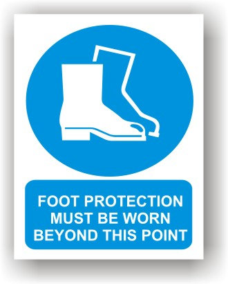 Foot Protection Must Be Worn  (O003)