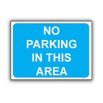 No Parking in This Area (T035)